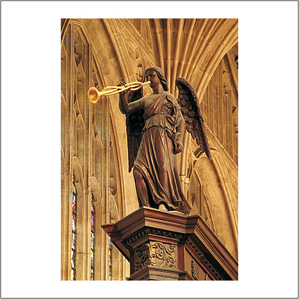 CP0169 King's College Chapel Wooden Angel