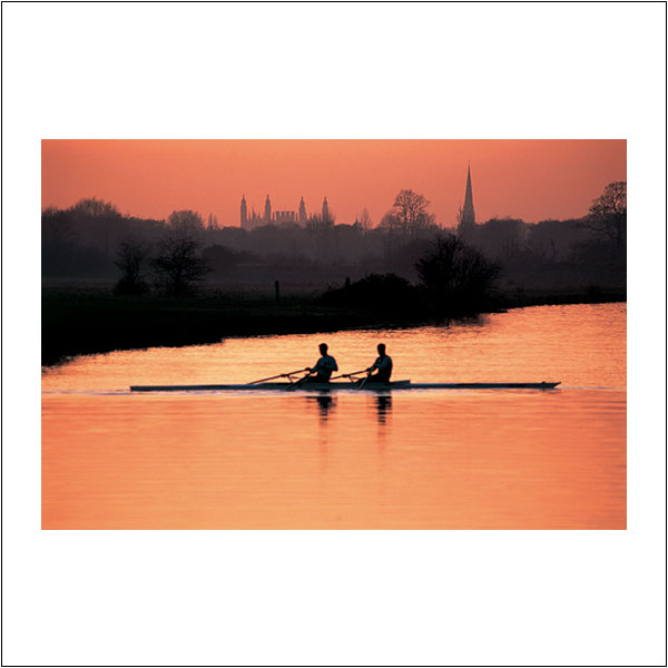 CP0289 Rowing Evening Scullers