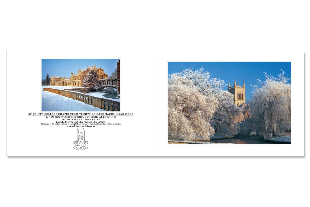 Cambridge Customised Christmas Cards | The Oxbridge Portfolio