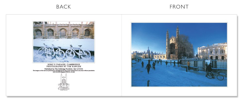 LCCC31 Cambridge Christmas Cards | The Oxbridge Portfolio