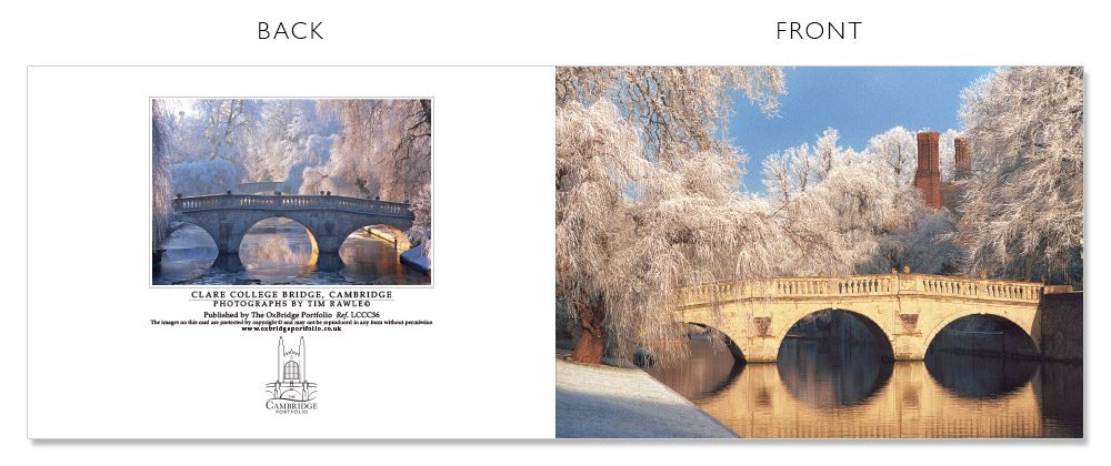 LCCC36 Cambridge Christmas Cards | The Oxbridge Portfolio