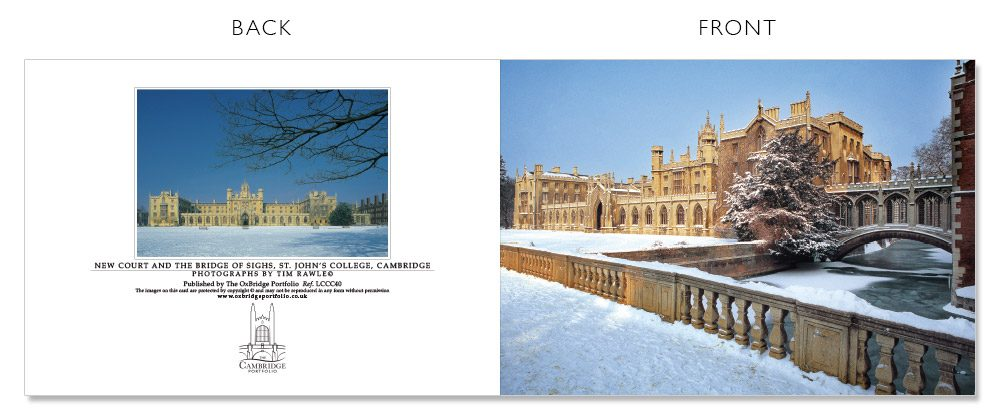 LCCC40 Cambridge Christmas Cards | The Oxbridge Portfolio
