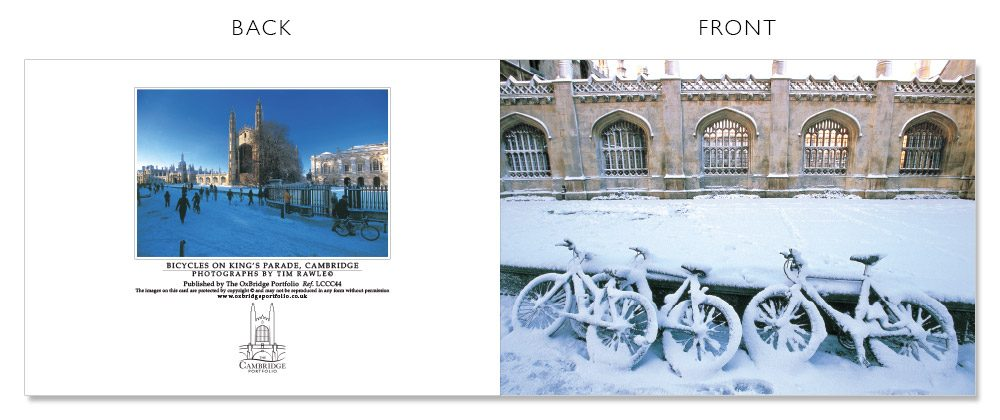 LCCC44 Cambridge Christmas Cards | The Oxbridge Portfolio