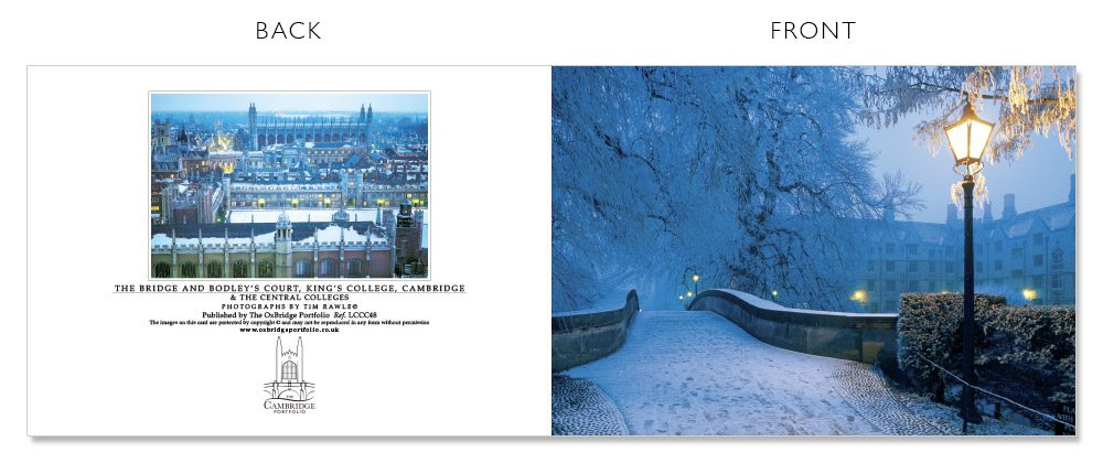 LCCC48 Cambridge Christmas Cards | The Oxbridge Portfolio